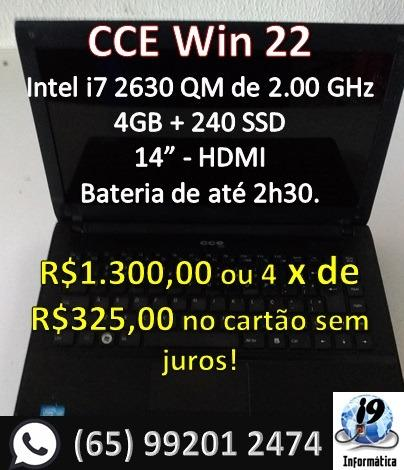 Notebook CCE Win i7