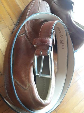 Sapato de couro tam 44 - Foto 3