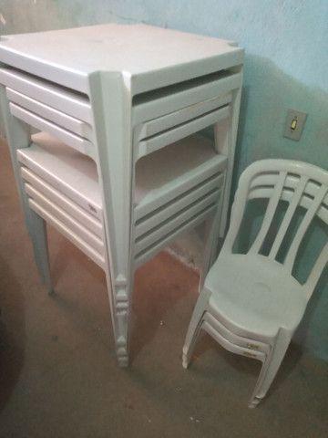 6 mesas completas cadeira e etc