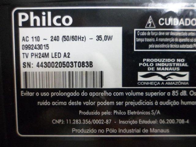Placa principal tv philco ph24m usada original favor leia o anuncio