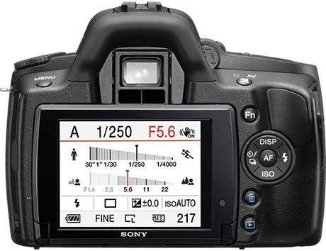 Câmera DSLR Sony A390 R$ 650.00  - Foto 2