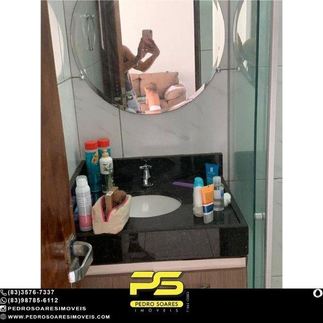 (MOBILIADO) Apartamento com 2 dormitórios à venda, 60 m² por R$ 360.000 - Tambaú - João Pe - Foto 10