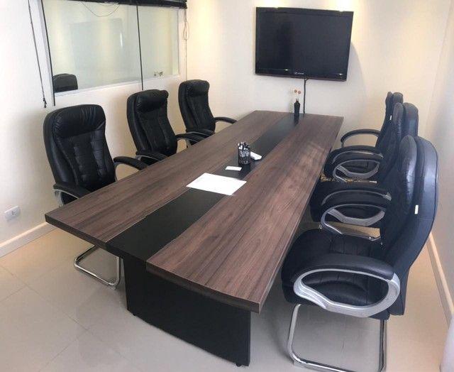Mesa De Reunião Premium Alcateia Azul  - Foto 5