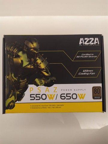 Fonte p/ desktop // Azza Psaz 650w // Certificado 80 Plus Bronze // Usada