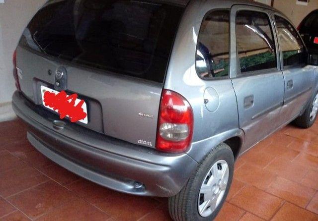 Corsa Wind/ Ano 2001 /Cor Cinza 4 portas/ Gasolina. - Foto 3
