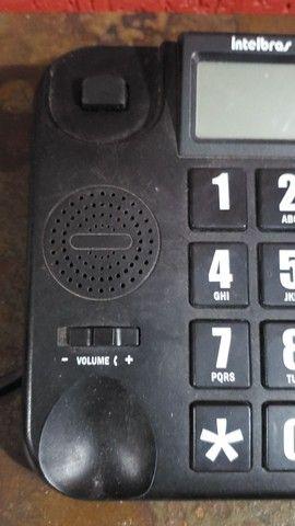 Aparelho de telefone Intelbras, perfeito para idosos e deficientes visuais - Foto 2