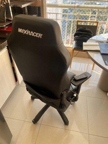 Cadeira Gamer MaxRacer Bunker Massagem SMI Regen Preta - Foto 5