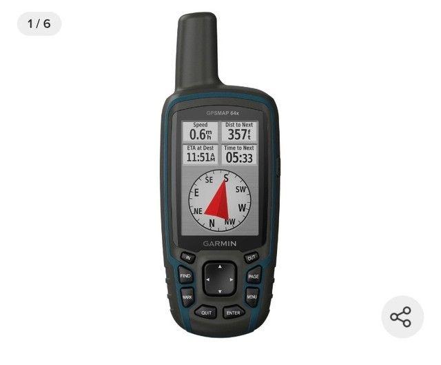 GPS Portátil Garmin GPSmap 64x Mapa Topoactive América do Sul