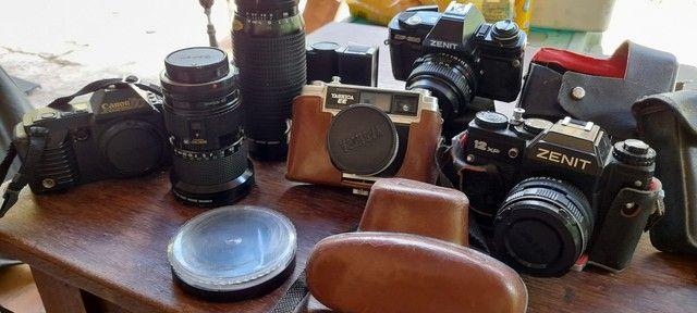 Câmeras e tele antigas...