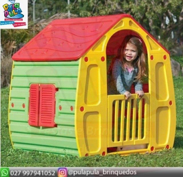 Novidade!! Casinhas Infantis coloridas para sua área Kids e diversão infantil - Foto 4