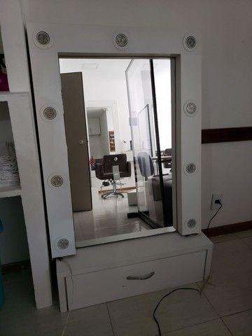 Espelho, bancada com leads  linda - Foto 2