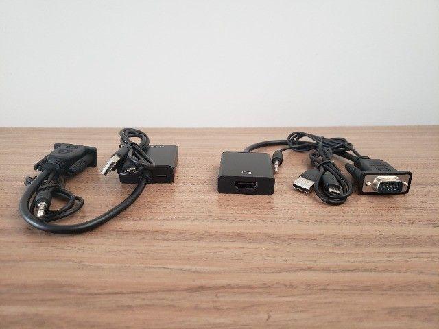 Conversor VGA para HDMI com Cabo de Áudio