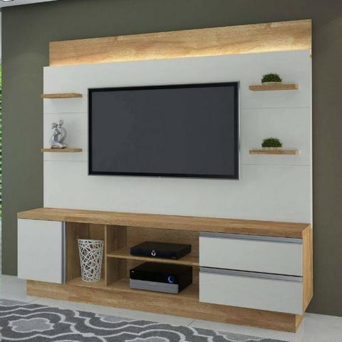 Estante Home Buran TV até 60 polegadas JCM com Luminária em LED