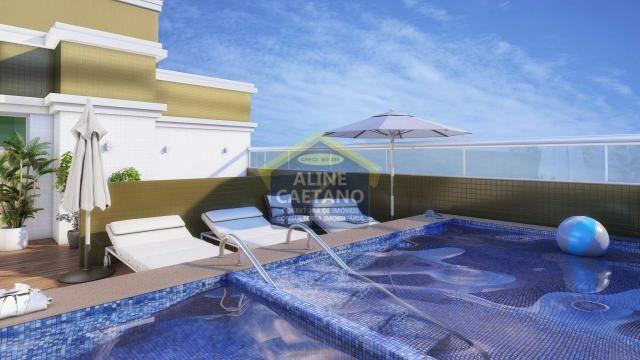 Apartamento à venda com 2 dormitórios em Guilhermina, Praia grande cod:AB1576