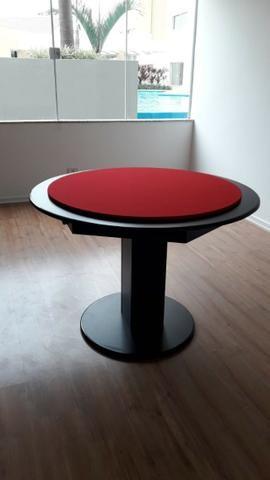 Mesa Carteado Residencial | Mesa Preta | Tecido Vermelho | Modelo: MPXM4388 - Foto 2