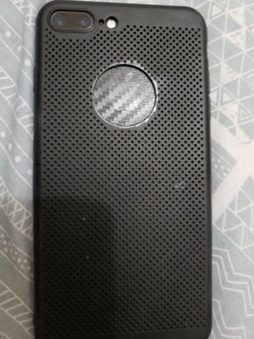 Iphone 7 plus 256gb preto com fone e carregador original - Foto 2