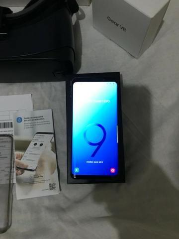 Samsung galaxy S9 + oculos gear vr tudo na caixa com nota fiscal + garantia - Foto 3