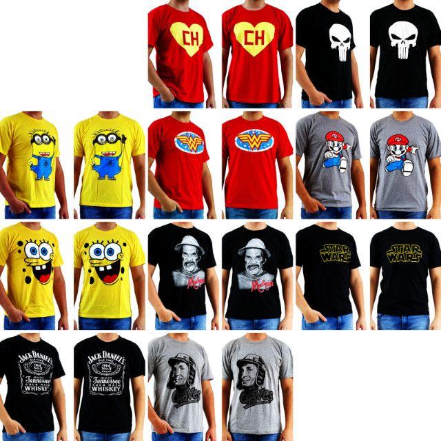 Estoque de Camisetas de Personagens - Foto 2