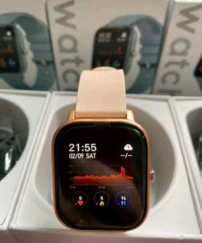 Smartwatch P8 relógio inteligente novo  - Foto 3