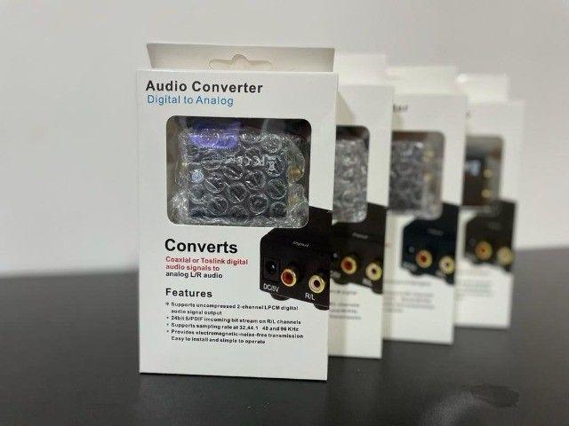 Adaptador Conversor Ótico Toslink E Coaxial Digital P/ Rca