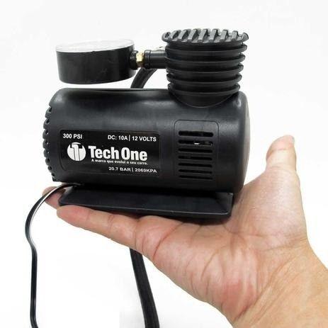 Mini Compressor De Ar 12v 300 Psi Para Encher Pneu - Techone - Foto 2