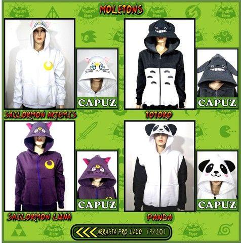 Moletons NerdDog Store - Kimetsu, Naruto, Resident Evil, Sailormoon, Panda, Totoro,  - Foto 4