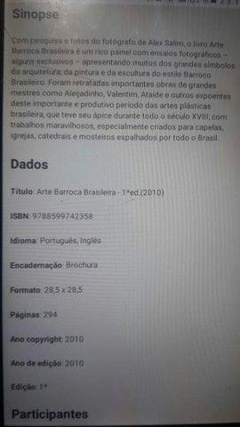 "Livro raro ""Arte Barroca Brasileira""(lacrado)novo - Foto 3"