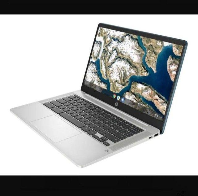 "HP Chromebook x360 14"" (32GB, Intel Celeron, 1.1 Ghz, 4GB) Notebook-Branco - 7PD76UA - Foto 3"