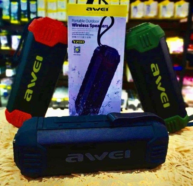 Caixa de Som Portátil Awei Y280 - À prova D`Água - Bluetooth - 16W - Foto 2