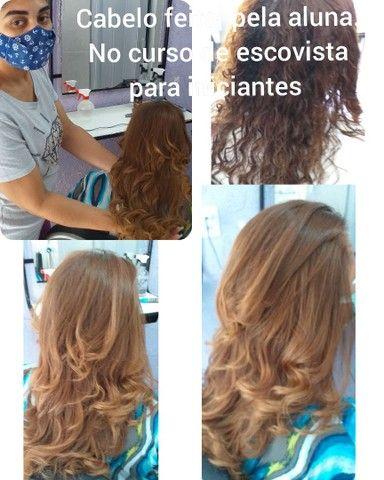 Curso de escovista para iniciantes/ cabelereiro/auxiliar de cabelereiro. - Foto 2