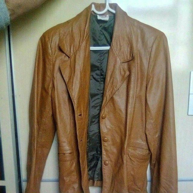 Jaquetas de couro legitimo tamanho M 100 reais cada. - Foto 2