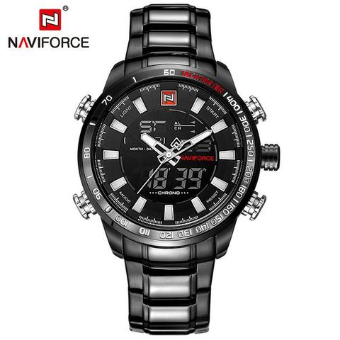 457dc5d43c4 Relógio Masculino Naviforce Nf9093 Militar Racer Original ...
