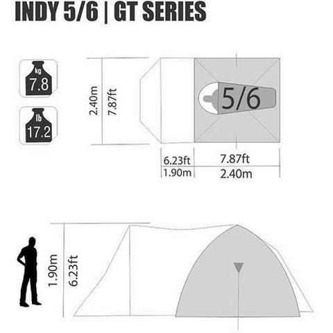 Barraca Nautica INDY 5/6 Pessoas + Lona protetora para Camping