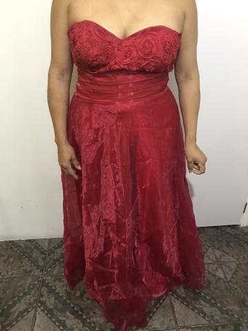 Vestido vermelho balonê