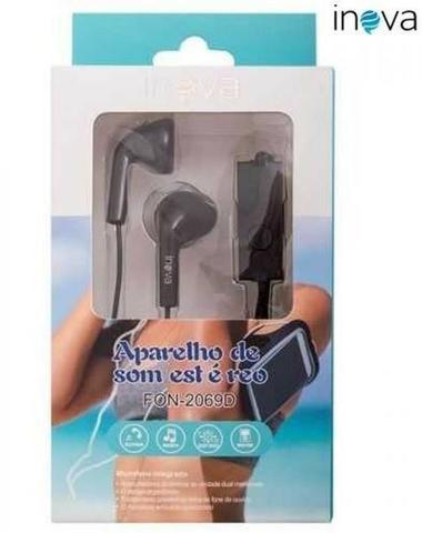 Fone de Ouvido com Microfone Fon-2069D - Inova