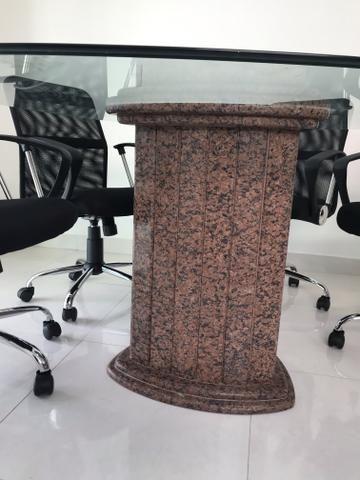 Mesa de reunião de vidro - Foto 2