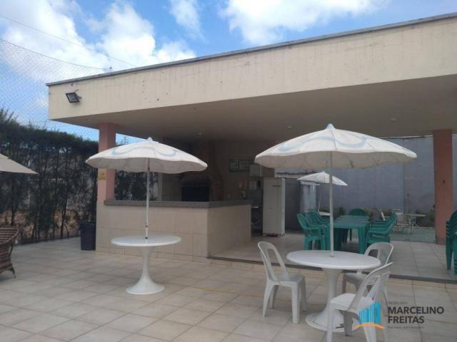 Apartamento com 2 dormitórios para alugar, 52 m² por r$ 1.109/mês - álvaro weyne - fortale - Foto 3