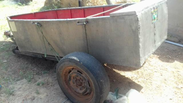 Canoa de zinco com carretinha - Foto 4