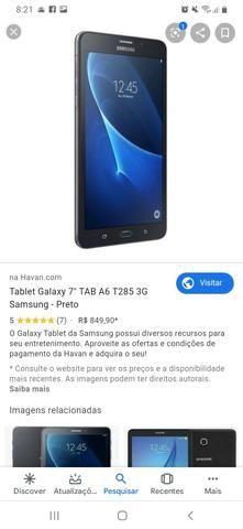 Tablet a6 samsung troco nu selula ou vendo - Foto 4