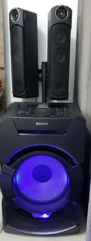 Mini System Sony Mhg-gt5d cm Bluetooth Nfc e Led Multicolorido - Bivolt - Foto 4