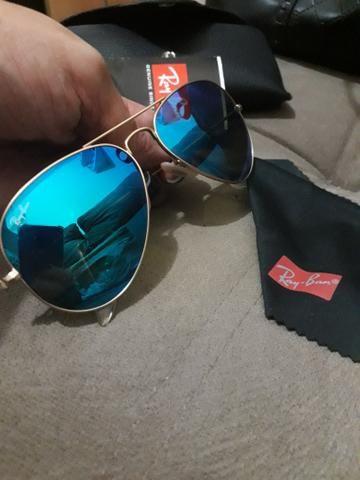 4fbad0b8ef0b8 Óculos Ray Ban ORIGINAL espelhado polarizado - Bijouterias, relógios ...