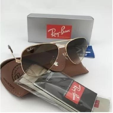 Óculos Rayban Rb3025 Aviador Original Dourado Marrom Degrade ... 151b7ee118