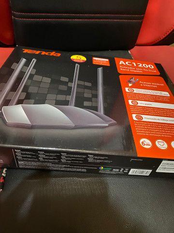 Roteador tenda gigabyte ac8 ac1200 mbps 1ghz 4 antenas 6dbi