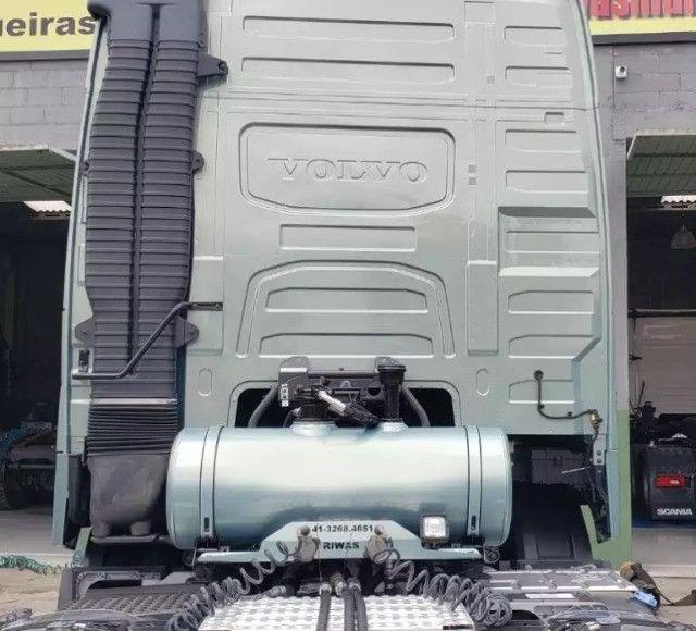 Kit Hidráulico Original Hyva P/ Caçamba Personalizado na Cor do Cavalo Mecânico - #4105 - Foto 4
