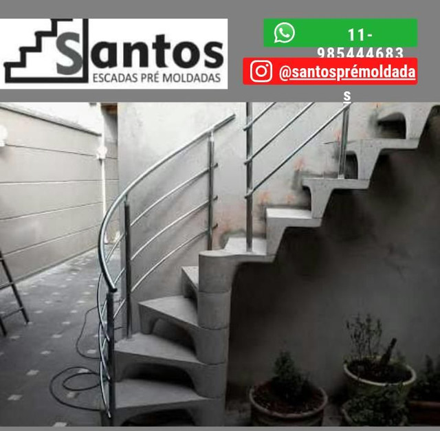 Santos escadas pré moldadas - Foto 4