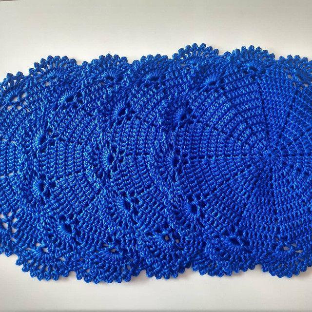 Toalhinhas em crochê feito com fio Charme da círculo - Foto 4