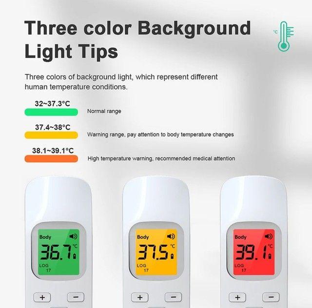 Termômetro infra vermelho GP-100 display LCD 3 cores auto OFF, preciso e rápido - Foto 3