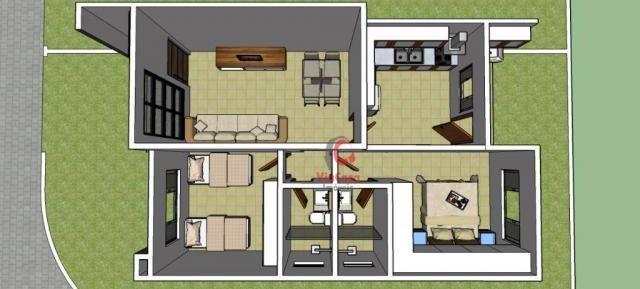 Casa linear com 2 dormitórios à venda, 62 m² Terra Firme - Rio das Ostras/RJ - Foto 8