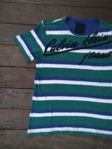 Camiseta Cklein 10 anos e bermuda moletom Cklein 12 anos