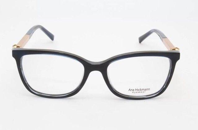 Óculos Armação com Lente Ana Hickman Usado  - Foto 2